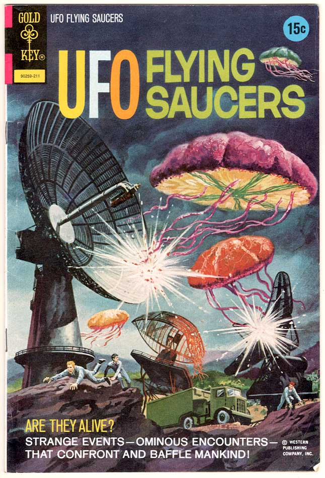 1972 UFO FLYING SAUCER Comic Book Story About Living UFOs